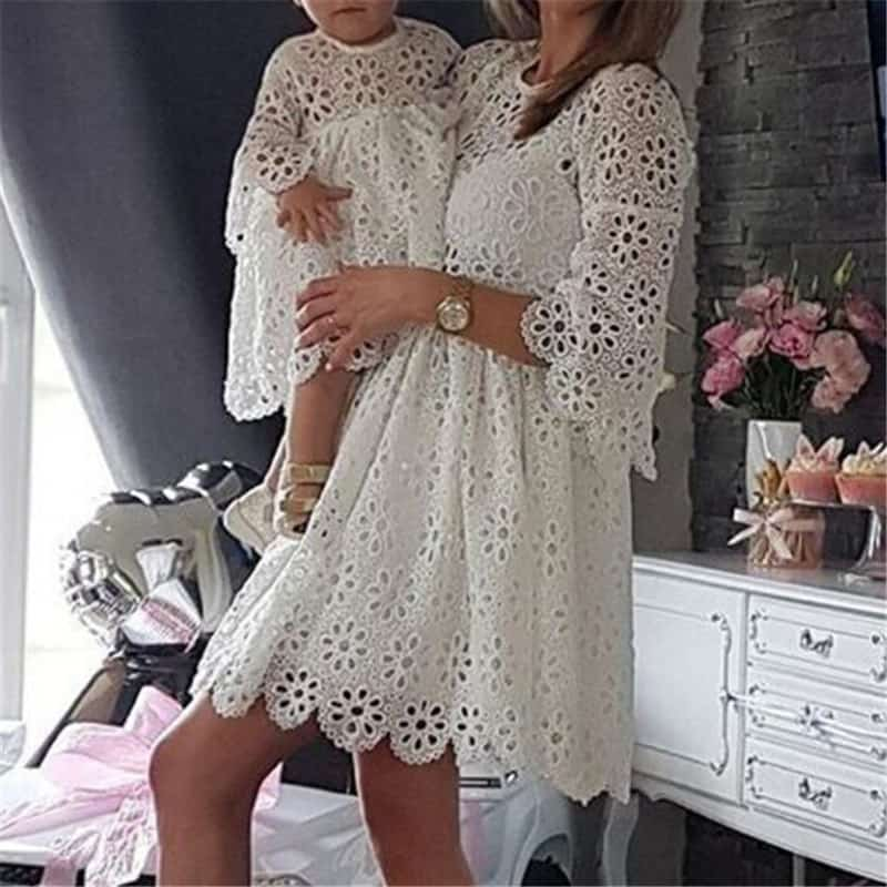 Mother Daughter Dresses Eyelet Clothing